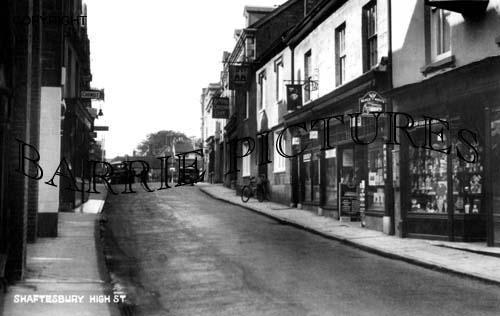 Shaftesbury, High Street c1935