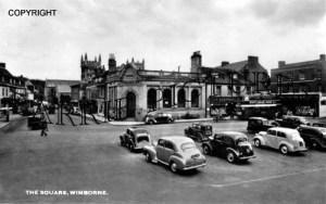 Wimborne, the Square c1958