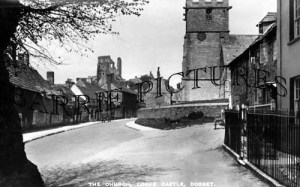 Corfe Castle, the Village and Church c1940