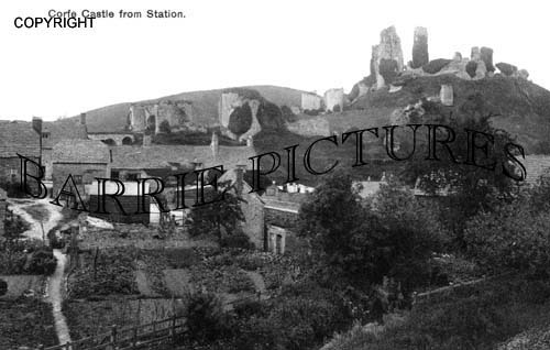 Corfe Castle, from the Station c1910