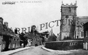 Corfe Castle, the Village and Church c1930