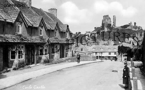 Corfe Castle, c1925