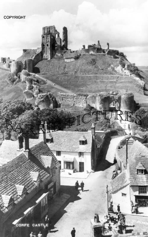 Corfe Castle, c1950