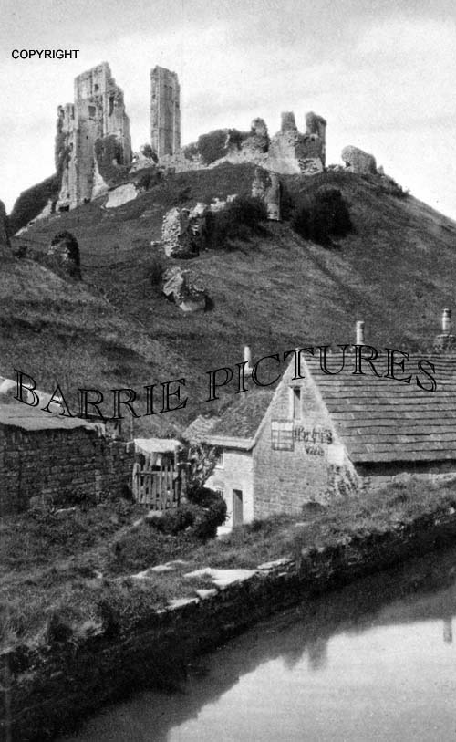 Corfe Castle, from Old Mill c1920
