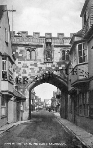 Salisbury, High Street Gate c1935