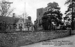 Motcombe, Church and School c1914