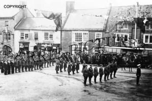 Beaminster, Military Parade c1918