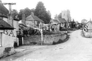 Bishops Caundle, The White Hart Inn and Church c1930
