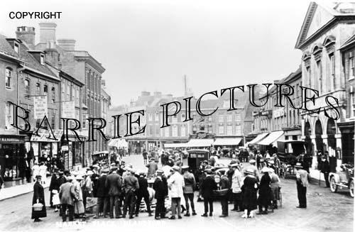 Blandford, Market Place c1920