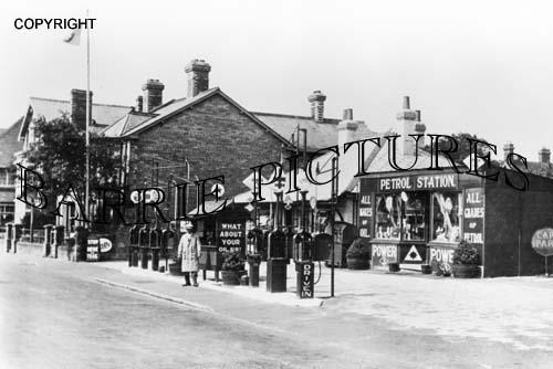 Blandford, Petrol Station c1920