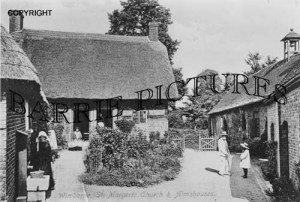 Wimborne, St Margarets Church and Arms Houses c1910