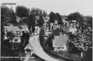 Witchampton, from the Church Tower c1900