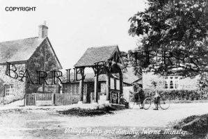 Iwerne Minster, Village Pump and Smithy c1910