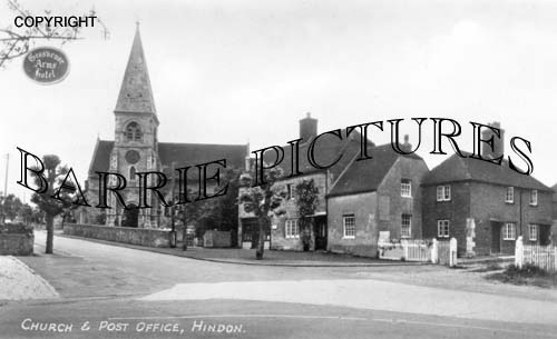 Hindon, Church and Post Office 1949