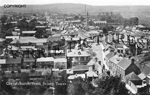 Christchurch, from Priory Tower 1905