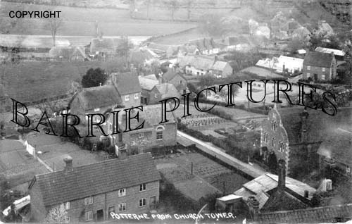 Potterne, from Church Tower c1912
