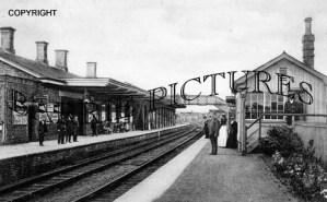 Maiden Newton, Railway Station c1895