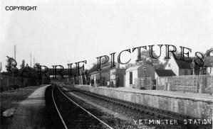 Yetminster, Railway Station c1890
