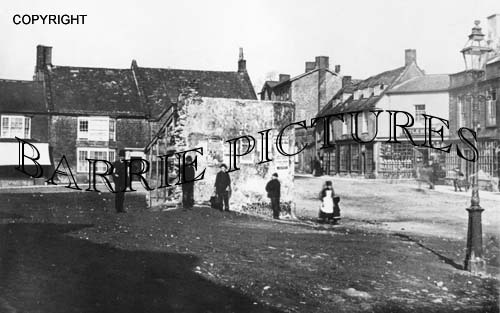 Beaminster, Market Place c1865