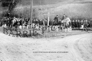 Shaftesbury, Lord Portmans Hounds at Pensbury c1930