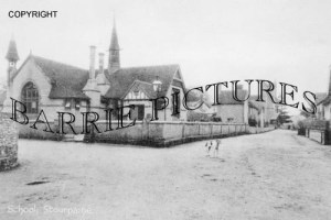 Stourpaine, School c1910