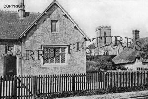 Tarrant Hinton, School and Church c1910