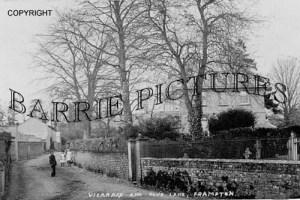Frampton, Vicarage and Fox's Lane c1910