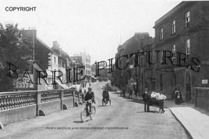 Chippenham, Town Bridge and High Street c1910