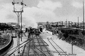 Christchurch, Railway Station c1910