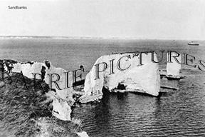 Sandbanks, Old Harry Rocks c1930