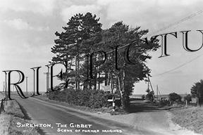 Shrewton, the Gibbet c1950