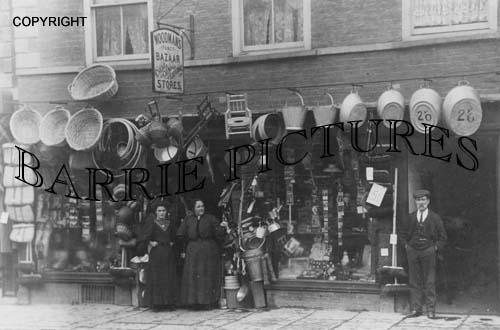 Bridgwater, Woodmans Bazaar Stores c1900