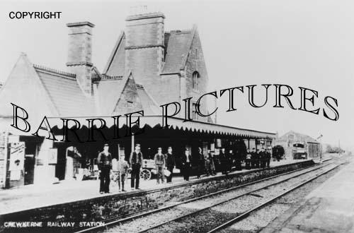 Crewkerne, Railway Station c1900