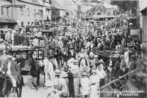Dunster, Meet of D&S Staghounds c1920