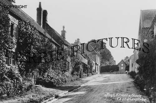 East Harptree, High Street and Clock c1910