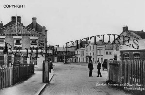 Highbridge, Market Square and Town Hall c1905