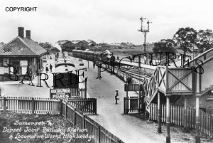 Highbridge, Railway Station c1905