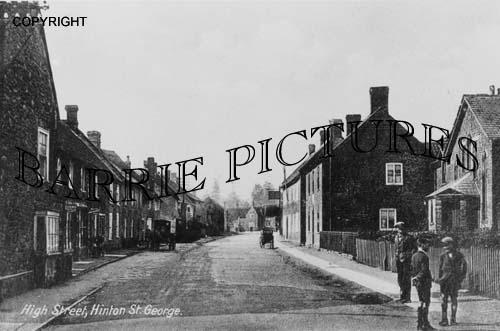 Hinton St George, High Street c1910