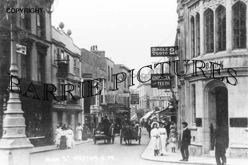 Weston Super Mare, High Street c1910