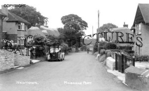 Milborne Port, New Town c1950