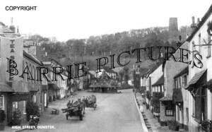 Dunster, High Street c1910