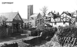 Winsford, Packhorse Bridge and Church c1940