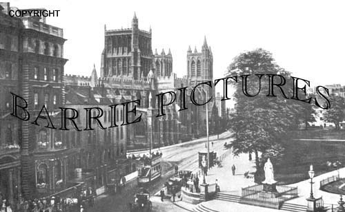 Bristol, Cathedral and Collage Green 1910