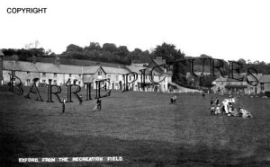 Exford, from the Recreation Field c1910