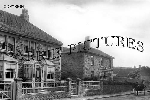 Backwell, West Town Post Office and Main Road c1905