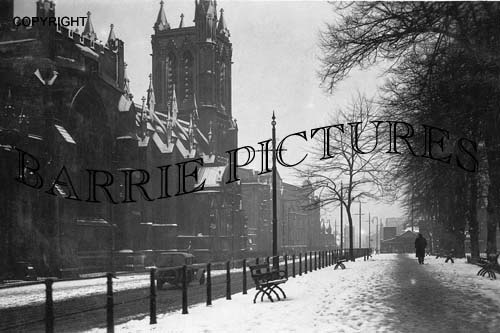 Bristol, Cathedral in the Snow c1920
