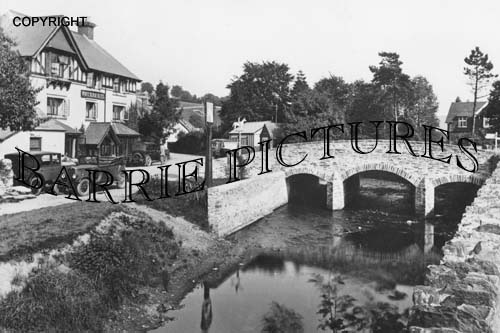 Exford, The Bridge c1940