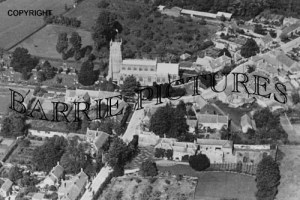 Martock, from the Air c1955