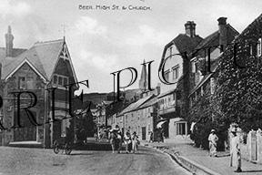 Beer, High Street & Church c1900