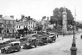 Barnstable, Square and Albert Clock c1920